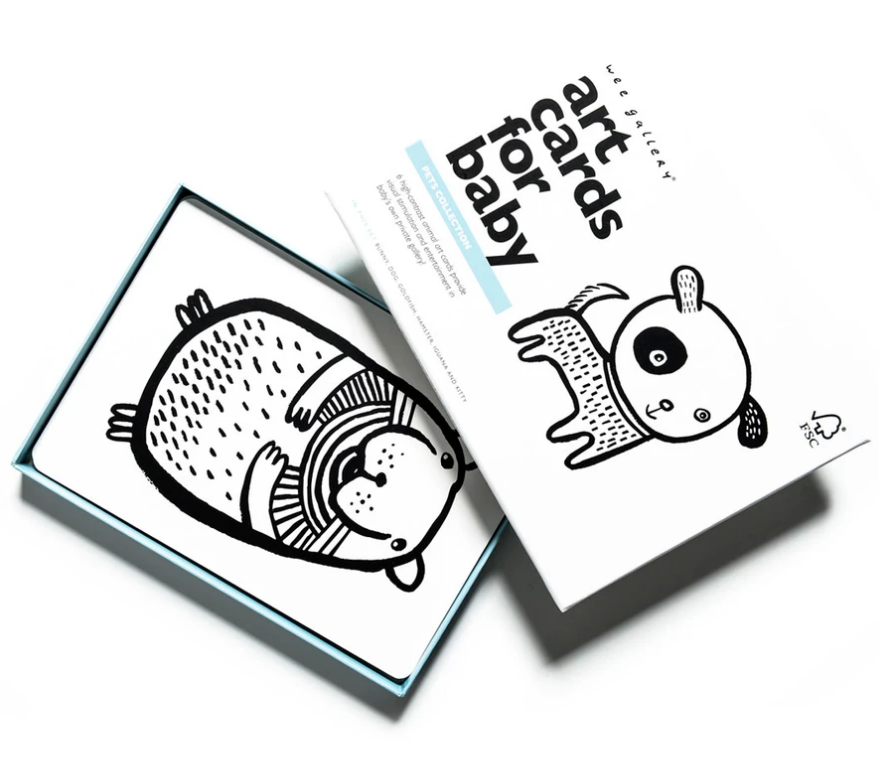 Art Cards For Baby - Pets by Wee Gallery