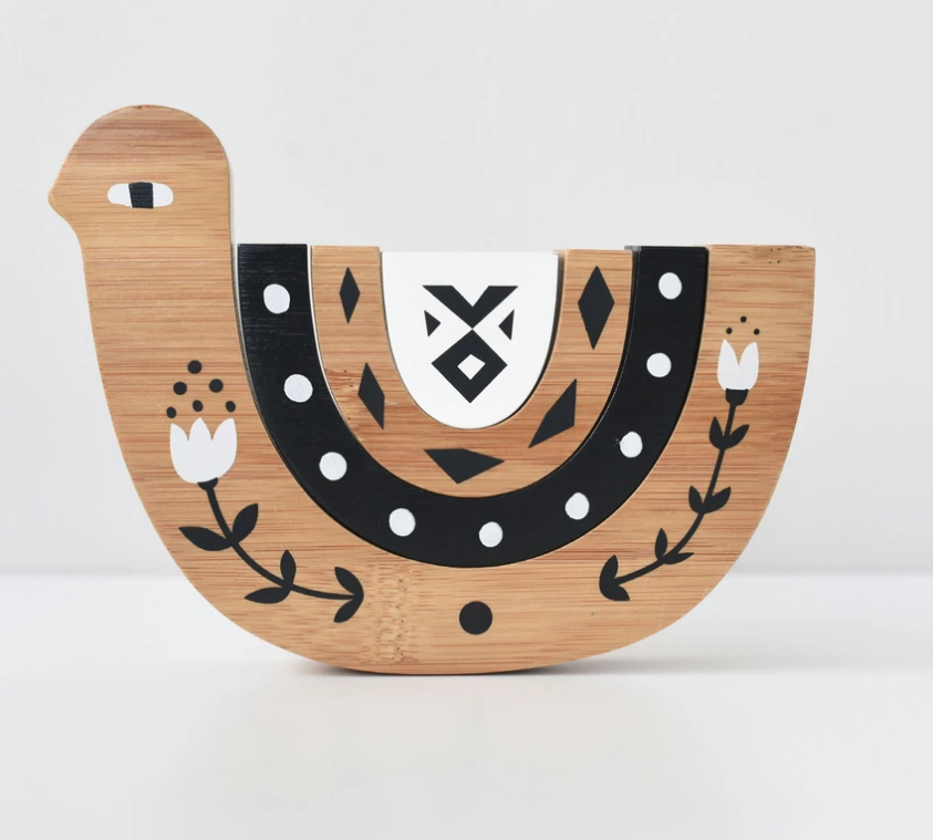 Bamboo Nesting Bird by Wee Gallery