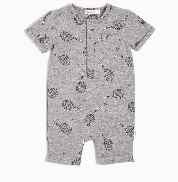 Racquet Club Baby Romper by Miles Baby