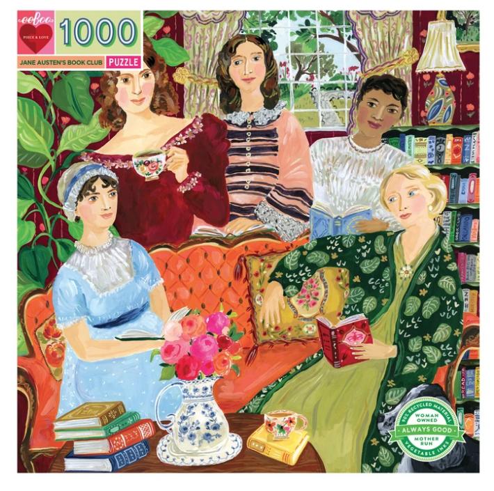 1000 Piece Jane Austen's Book Club Puzzle by Eeboo