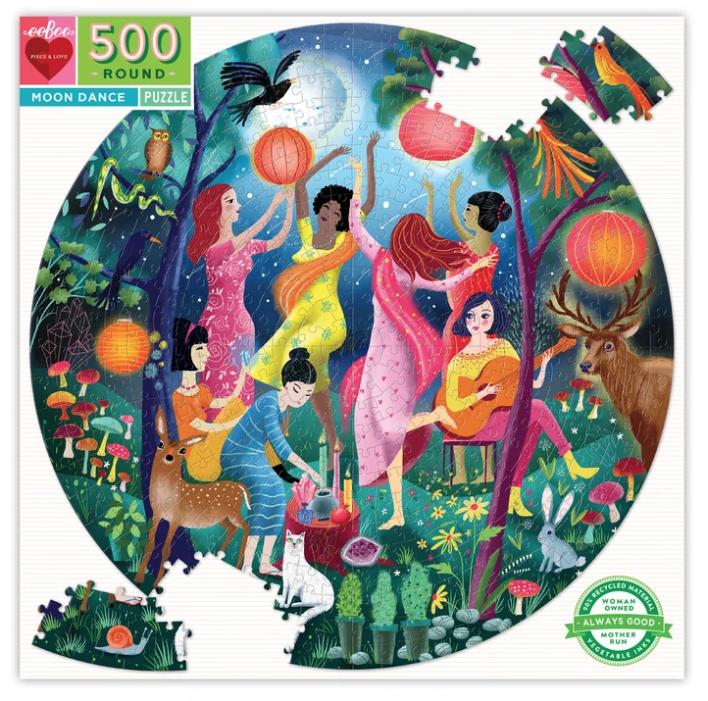500 Piece Round Moon Dance Puzzle by Eeboo