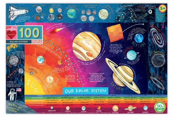 100 Piece Solar System Puzzle by Eeboo