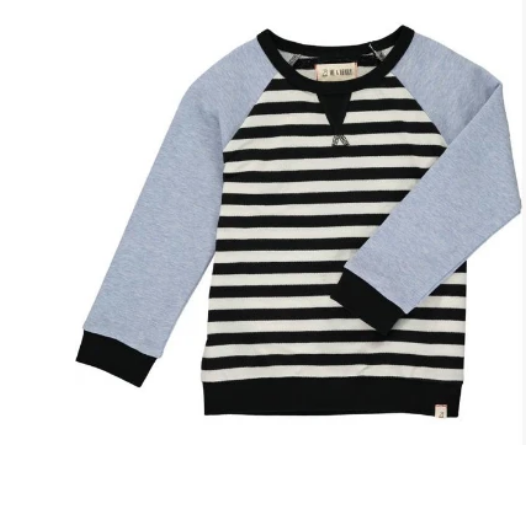 Black and White Stripe Sweatshirt by Me & Henry