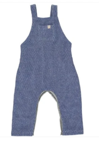Blue Knit Overalls by Me & Henry