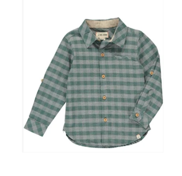 Green and Grey Plaid Shirt by Me & Henry