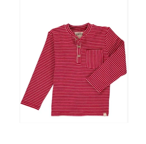 Red and White Stripe Shirt by Me & Henry
