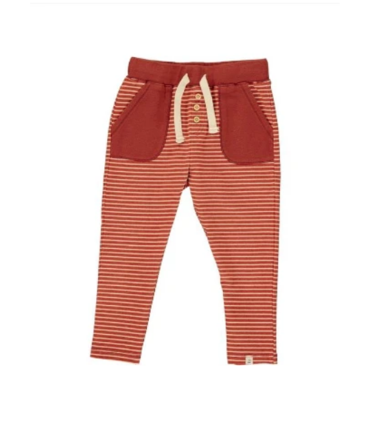 Rust Stripe Baby Pants by Me & Henry