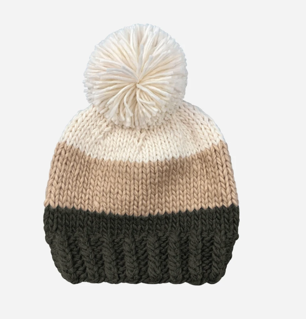Autumn Forest Color Block Beanie by Blueberry Hill