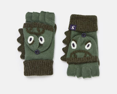 Fingerless Gloves With Mitten Cover - Dino by Joules