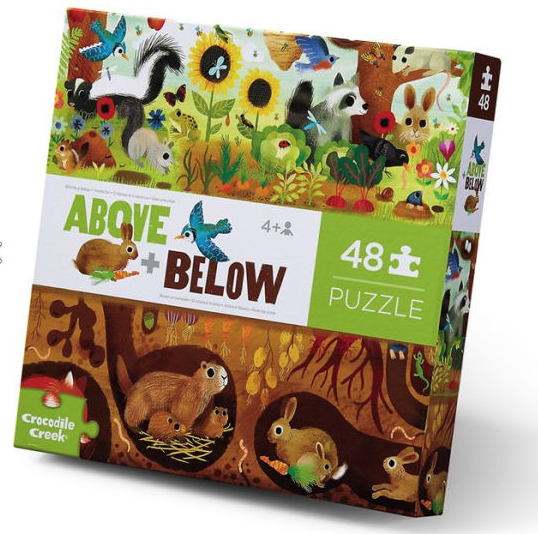 Above And Below Backyard Discovery 48 Piece Puzzle by Crocodile Creek