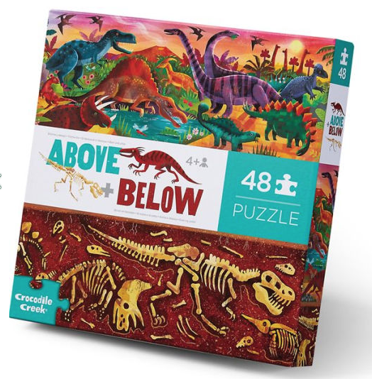 Above And Below Dinosaur World 48 Piece Puzzle by Crocodile Creek
