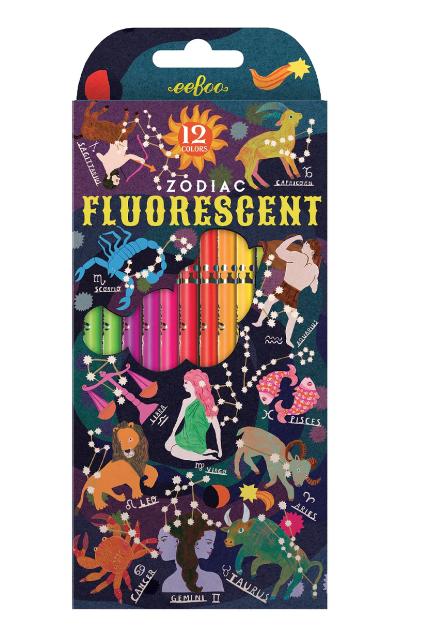 Fluorescent Colored Pencils - Zodiac by Eeboo