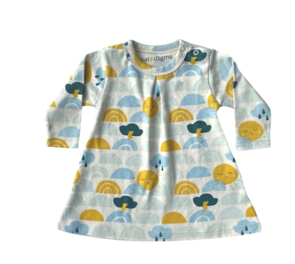 Weather Baby Dress by Cat & Dogma