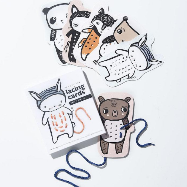 Lacing Cards - Baby Animals by Wee Gallery
