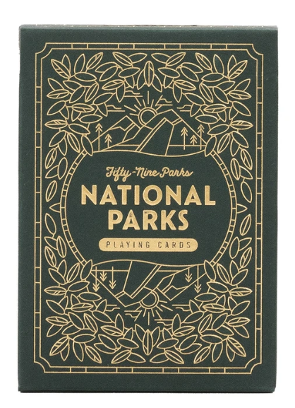 Parks Playing Cards Green Deck by Keymaster Games