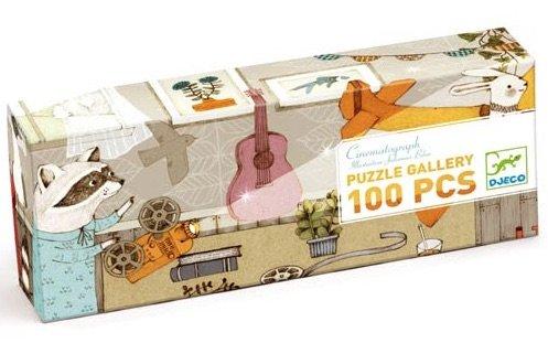 Gallery Puzzle 100 Pieces - Raccoon Cinema by Djecco