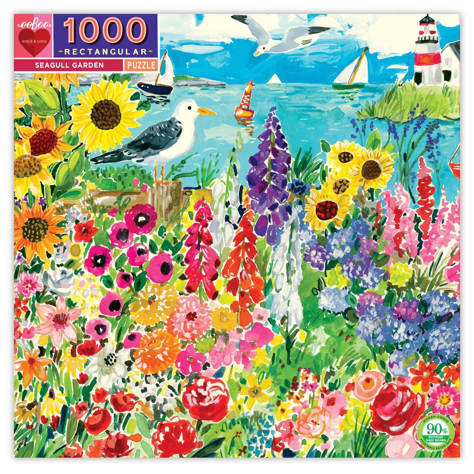 Seagull Garden 1000 Piece Puzzle by Eeboo