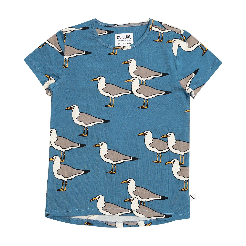 Sandy Seagull T-Shirt by Carlijnq