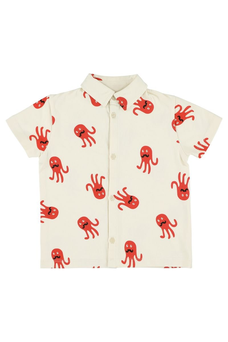 Monsieur Octopus Button Up by Lily Balou
