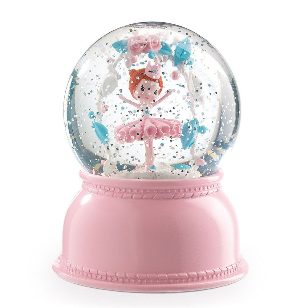 snow globe night light - ballerina by djeco