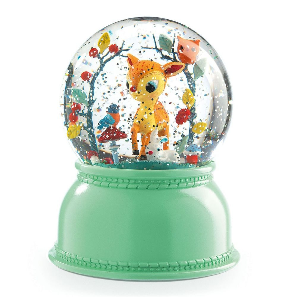 snow globe night light - fawn by djeco