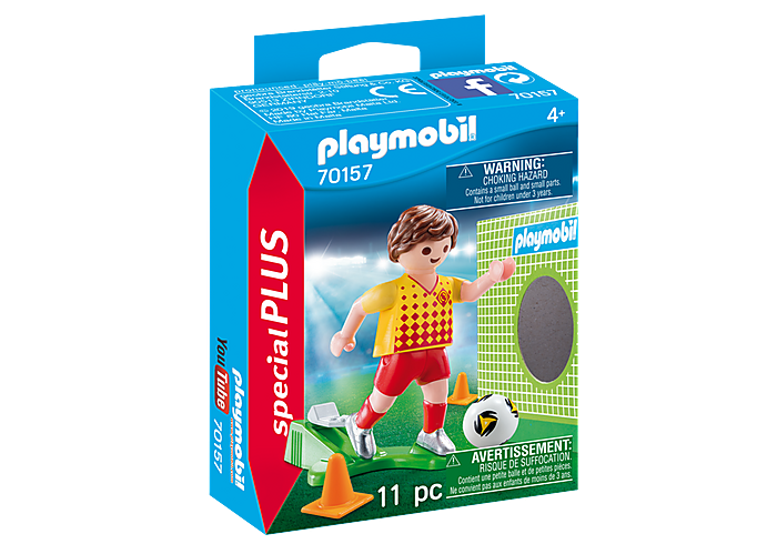 Soccer Player With Goal 70157 by Playmobil