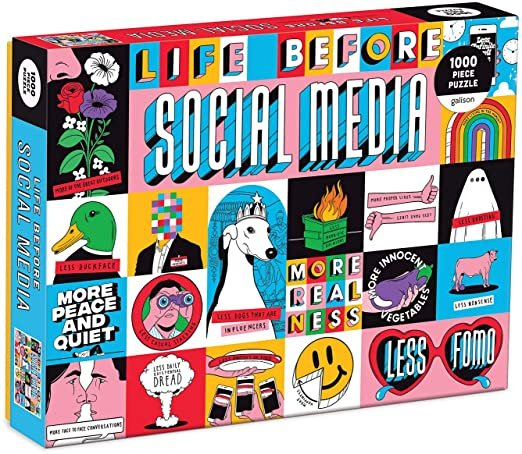 Life Before Social Media 1000 Piece Puzzle by Galison