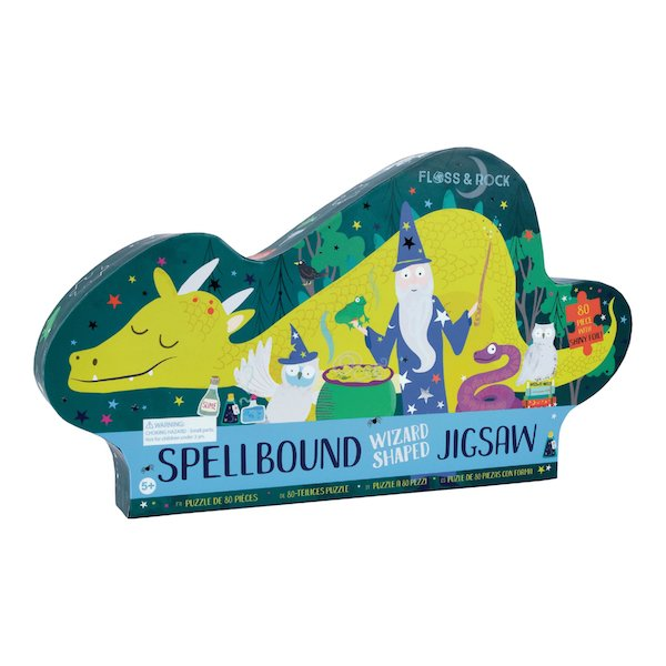 Spellbound Wizard Shaped 80 Piece Puzzle by Floss & Rock