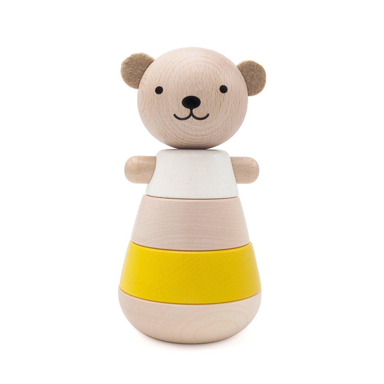 Yellow Stacking Bear by Briki Vroom Vroom