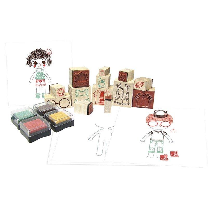 Dress Up 68 piece Stamp Set by Vilac