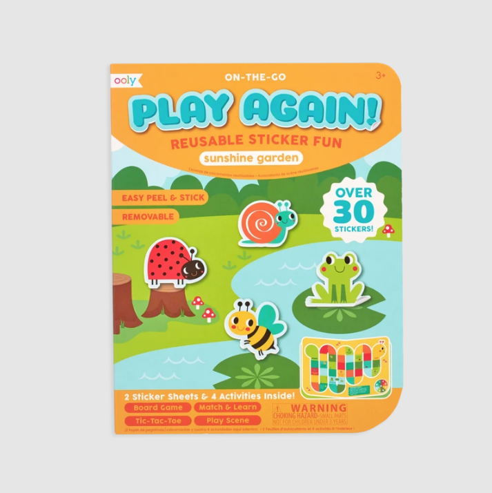 Play Again! Reusable Sticker Fun - Sunshine Garden by Ooly