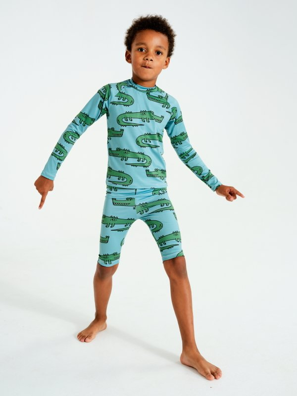 Crocodile Swim Shorts by Kukukid