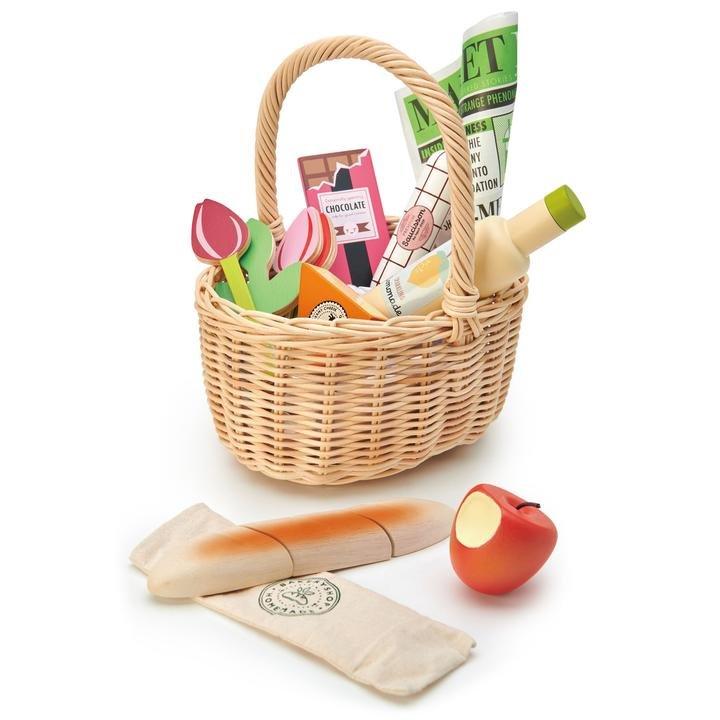 Wicker Shopping Basket by Tender Leaf Toys