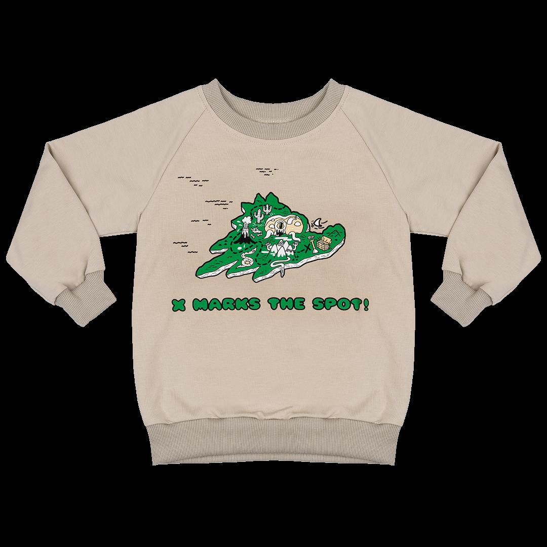 Treasure Island Sweatshirt by Jelly Alligator
