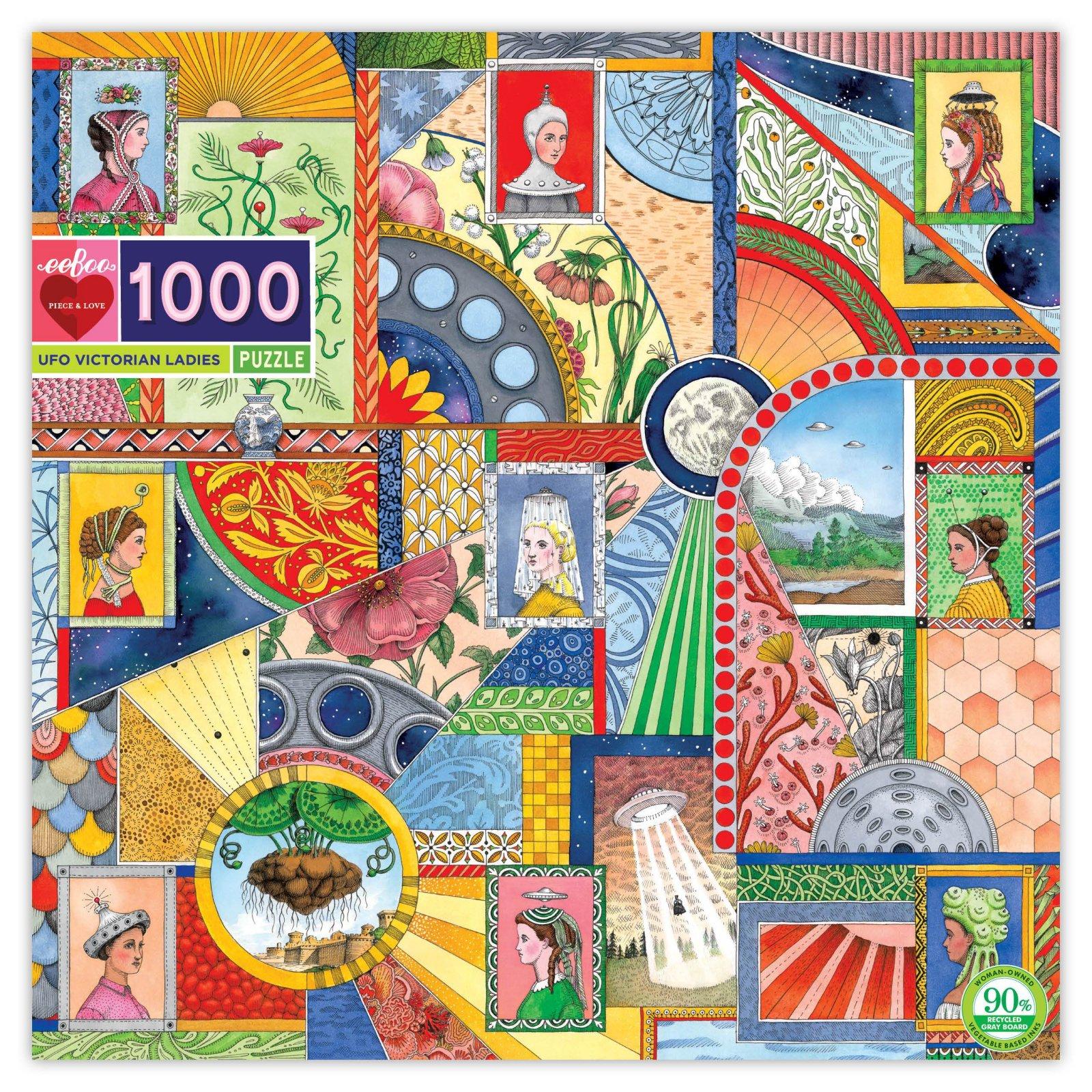 UFO Victorian Ladies 1000 Piece Puzzle by Eeboo