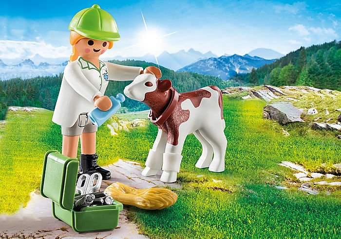 Vet With Calf 70252 by Playmobil