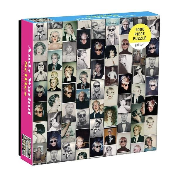 Andy Warhol Selfies 1000 Piece Puzzle by Galison