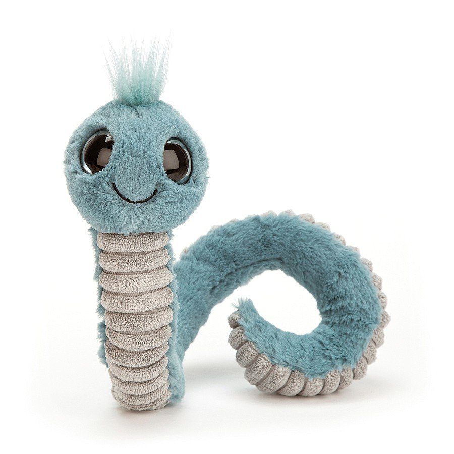 Wiggly Worm (Blue)  by Jellycat