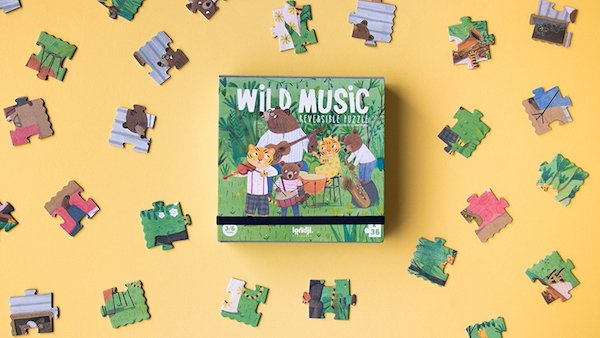 Wild Music 36 Piece Reversible Puzzle by Londji