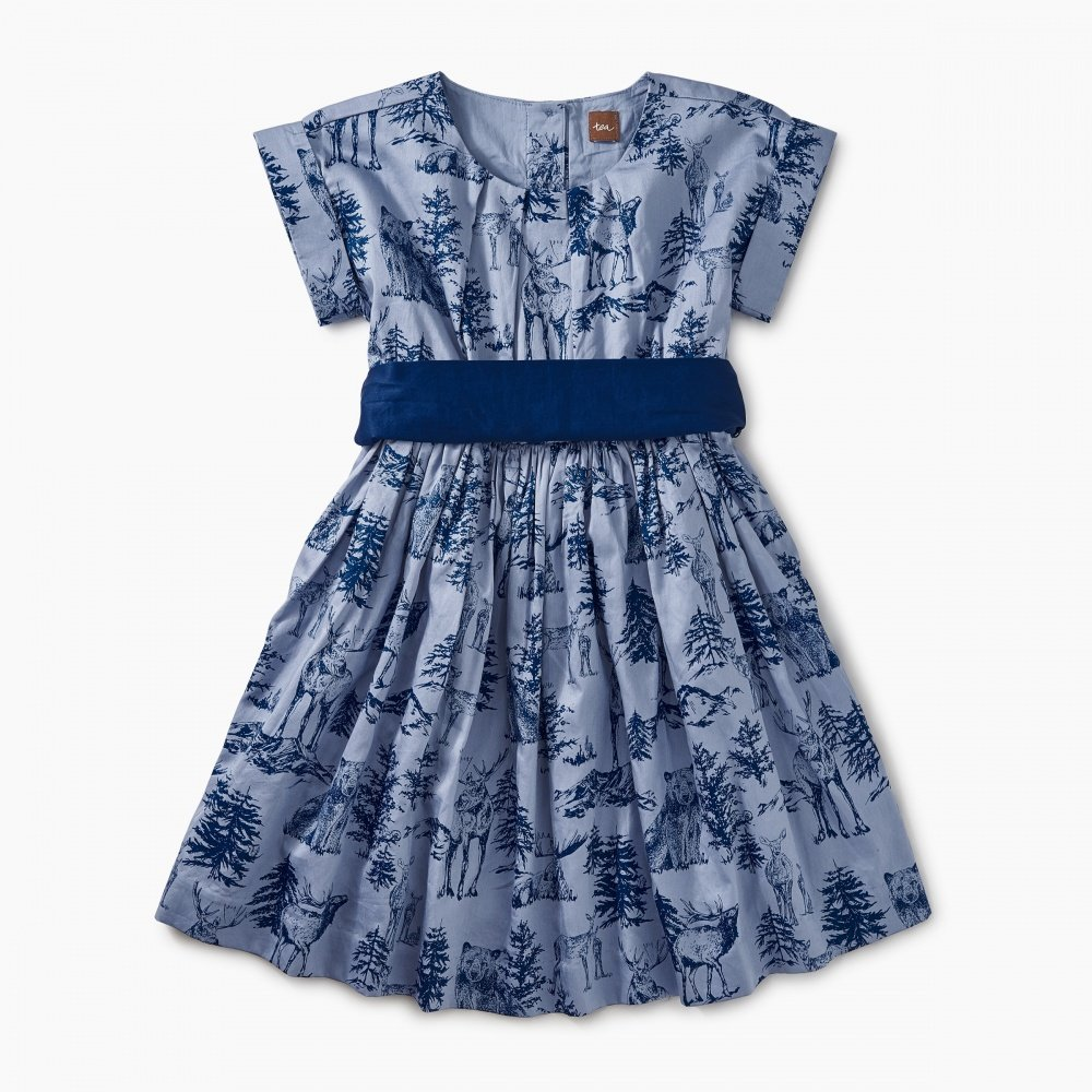 Wildlife Toile Dress by Tea Collection