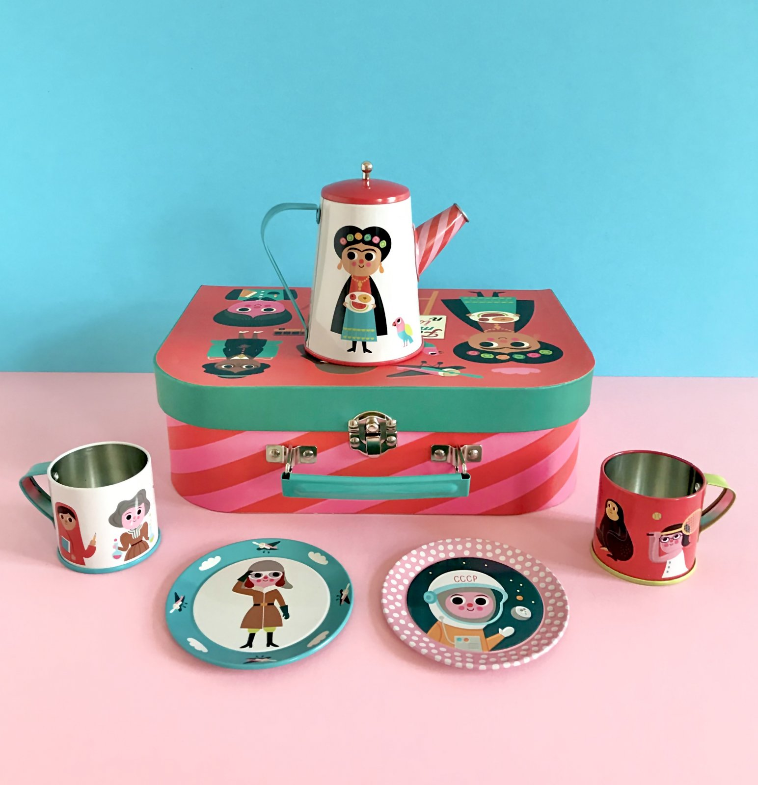 Feminist Tin Tea Set by OMM design