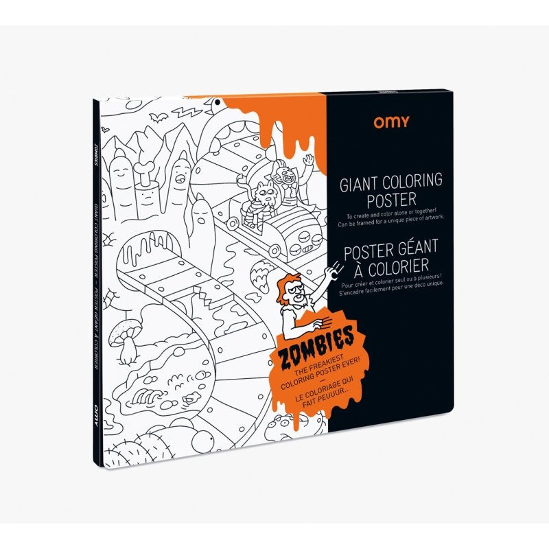 Giant Coloring Poster - Zombies by OMY