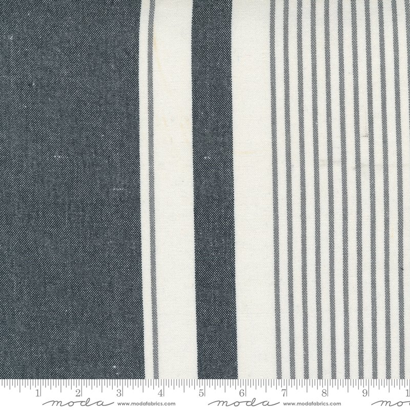 Toweling Black Bold Stripe