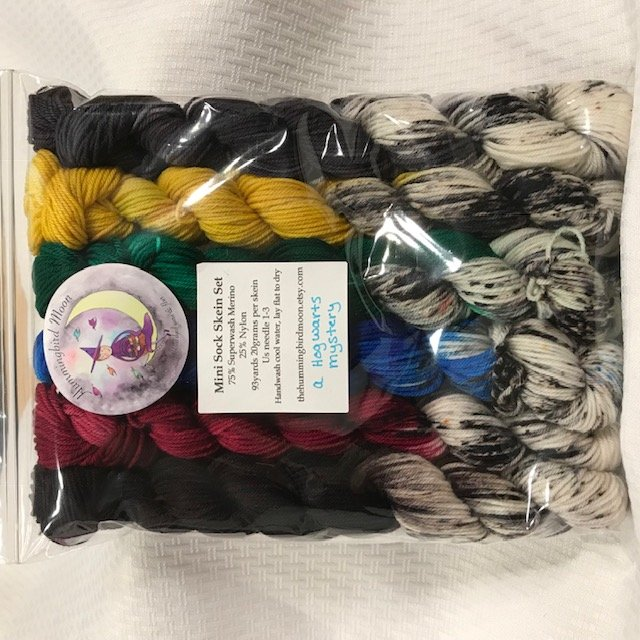 Hummingbird Moon - Mini Sock Skein Set - A Hogwarts Mystery