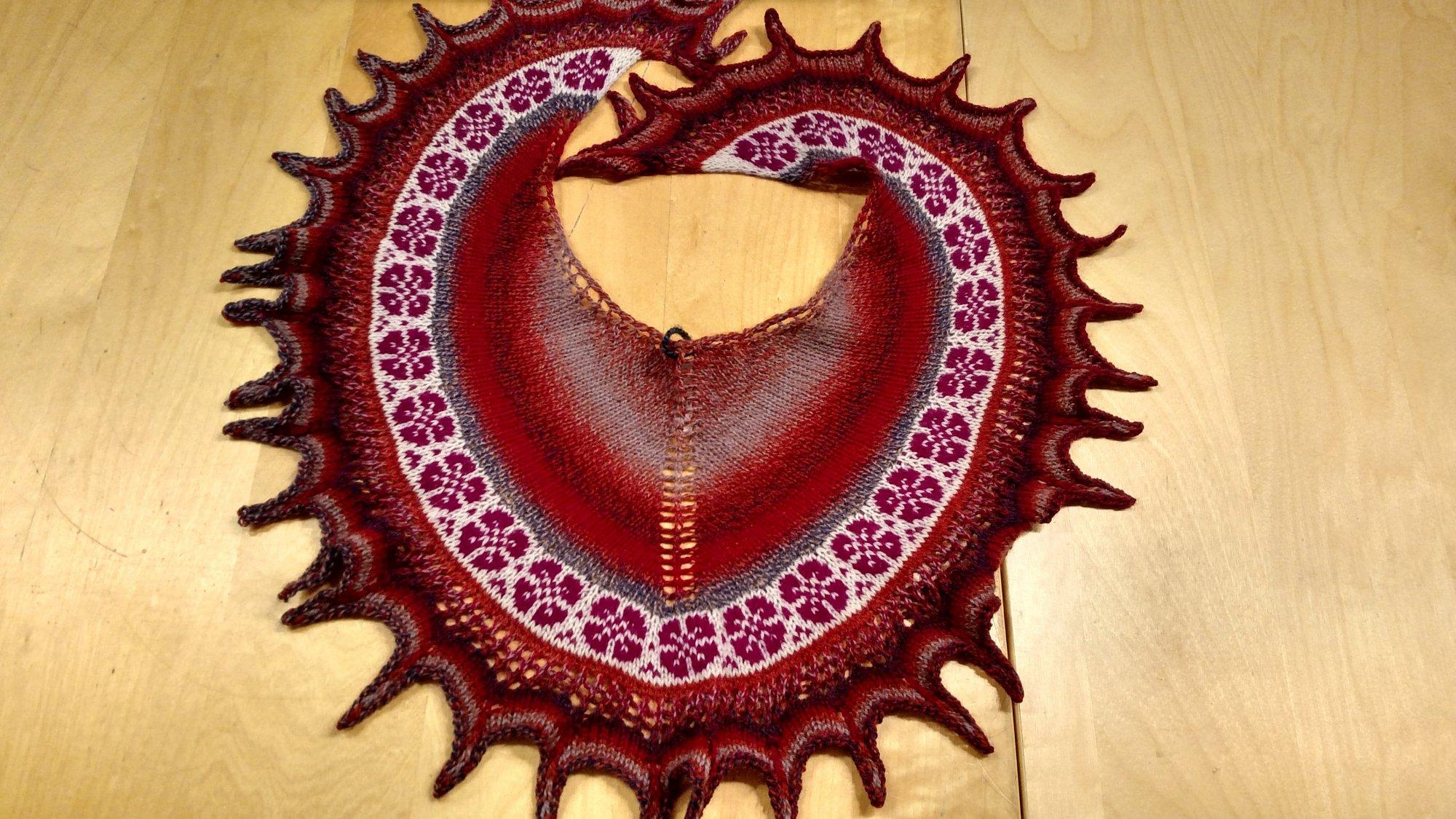 (JC Knit Flower Scarf