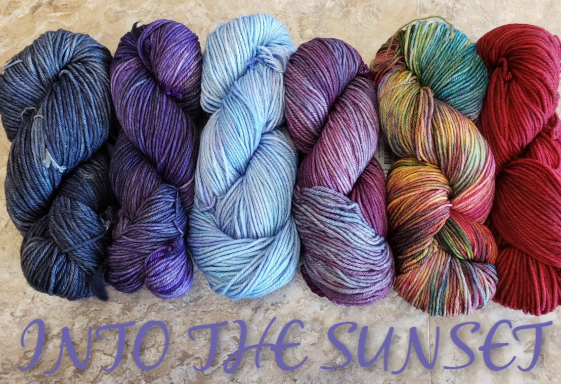 Nightshift Shawl Set - Into the Sunset