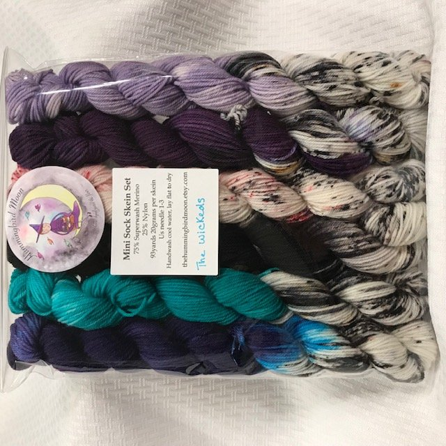 Hummingbird Moon - Mini Sock Skein Set - The Wickeds