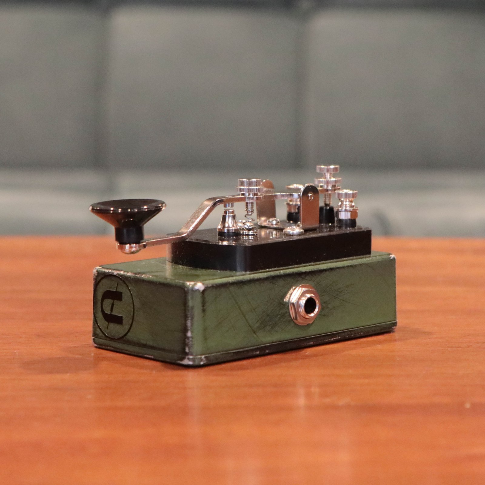 CopperSound Pedal Effects Telegraph Stutter Guitar Pedal - Relic'd Army Green