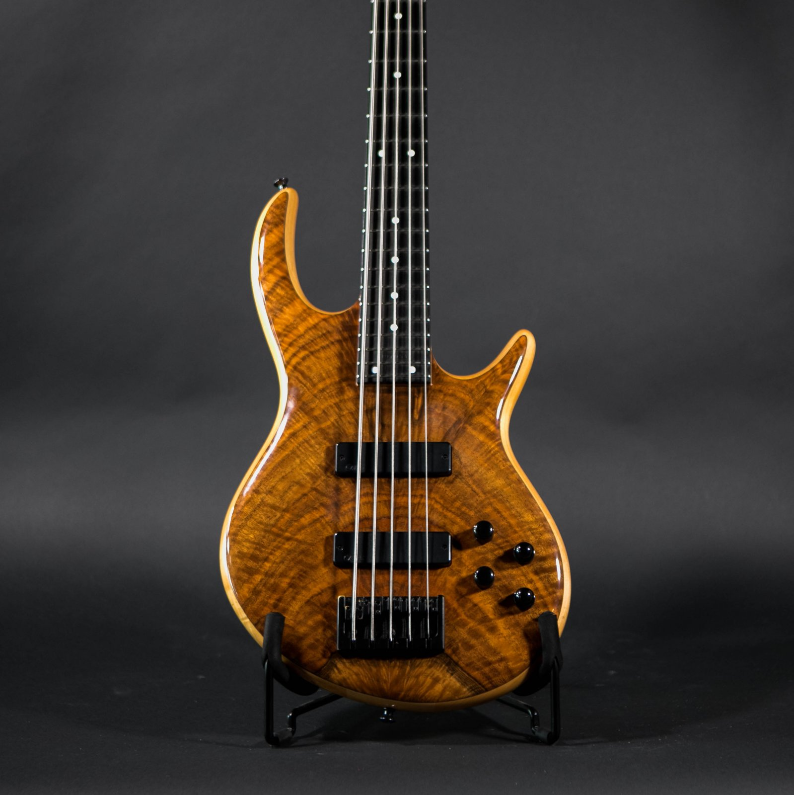 Carvin Icon 5s Bass Guitar - Walnut Finish - Excellent Condition!