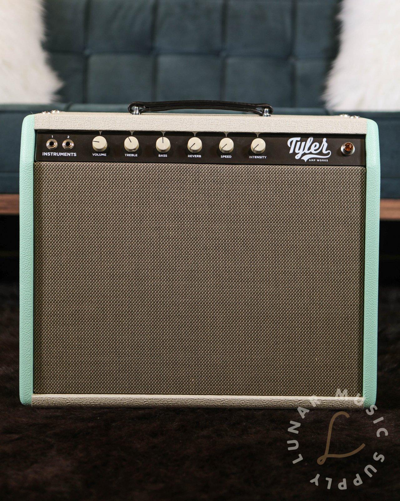 Tyler Amps JT-14 1x12 Combo Guitar Amplifier - Teal & Cream